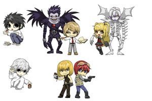 Death Note Convention Art by m3ru