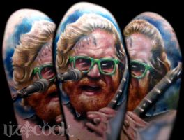 Brent Hinds of Mastodon by LizCookTattoo