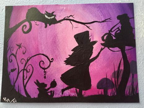 Alice In Wonderland - Acrylic Painting by LuckyOwl2306