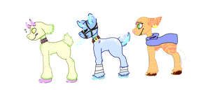goat adoptables! by archae0pteryx
