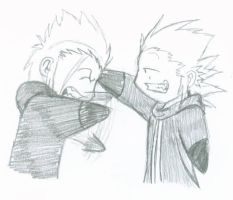 Axel and Demyx by Gato-Sama