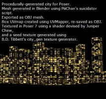 Procedurally generated 3D City by ibr-remote