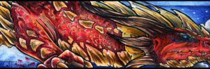 Bookmark - Red dragon by Nyrn-Aeh