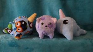 Pudgies Narwhals and Kitteh by WhimzicalWhizkerz