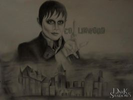 Dark Shadows: Barnabus Over 'COLLINWOOD Hills' by FrederickClay