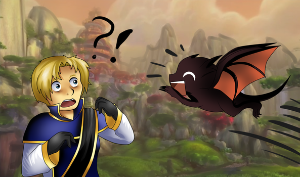 Anduin and Wrathion by PaintedHooves