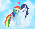 MLP - Rainbow Dash and Soarin by Galopade