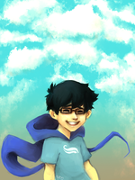 [HOMESTUCK] Challenge - Day 1 - John by kappakeki