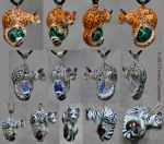 Big Cat Pendants by soulofwinter