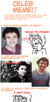 Favourite Celebrity Meme feat. George Blagden by GreenDayFanGirl