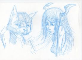 Girl and Cat by 93Hotaru