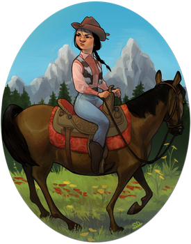 Cowgirl by Dredsina