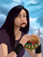 Bloody burger by Manweri