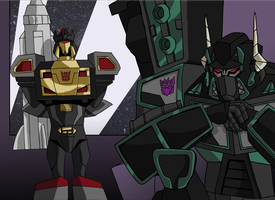 Scourge and Soundblaster by Alexander-Sin