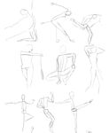 Gesture Drawings - April by Embucky