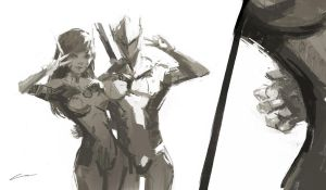 The Dragon's Hover Hand (Overwatch) by Alex-Chow