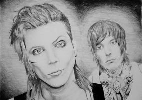 Andy Biersack and Oliver Sykes by Shaggykdogg