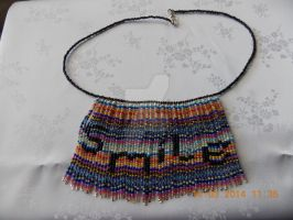 'Smile' seed bead necklace by Quested-Creations