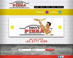 Tony's Pizza Website Homepage by thatpaperfox