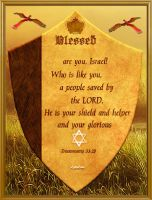 Blessed be thou of Israel who like you... by Lior-Art