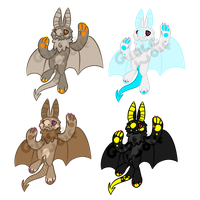 Bat Adoptebles [CLOSED] by LobsterAdopts
