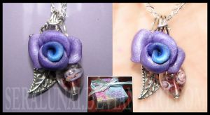 Rose Necklace by Seralunai