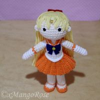 Sailor Venus Amigurumi Crochet Doll Plush by xMangoRose