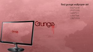Red grunge minimal by qamu74