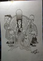 The simpsons-Addams family by MaRLaBLaCK91