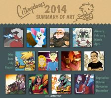 CrikeyDave's 2014 Summary of Art by SupaCrikeyDave
