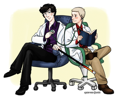+holmes and watson, MD by against-stars