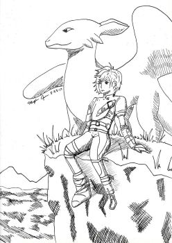 Hiccup and Toothless by RearRabbit