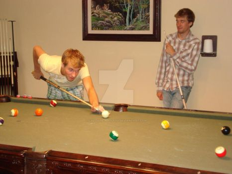 A Friendly Game of Pool by Callista-MacLeod