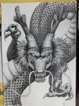 Shenron The Dragon God of Dragon Ball (pencil) by The-Dreaming-Dragon