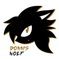 Donnis the Wolf logo by tacofacedrawer