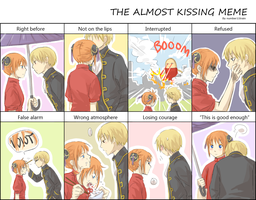 Almost kissing meme - OkiKagu by number11train
