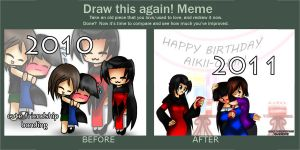 draw this AGAIN  meme by kaiomutaru25