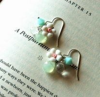 flower earrings 2 by meganhor