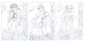- COMMISSION - Lineart Art Nouveau by ooneithoo