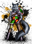 Isengrim the wolf - Character design by sudro