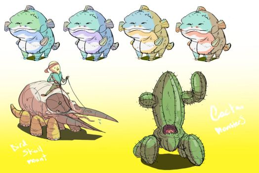 Fish Frogs and others by ConceptMike