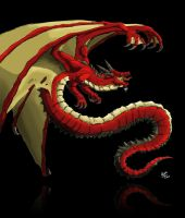 Red dragon by Lh0o