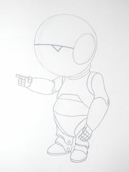 Marvin the paranoid android by SmithyBoy92