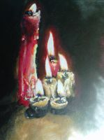 candles painting by SarahRefaei