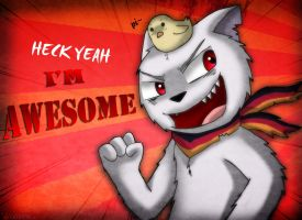 Prussicat feels Awesome by catkitte
