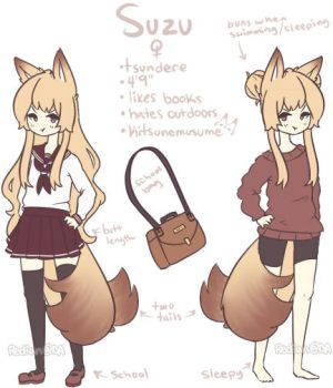 Suzu Reference Sheet by Redia-n