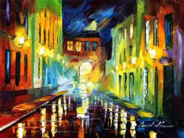 Selective night by Leonid Afremov by Leonidafremov