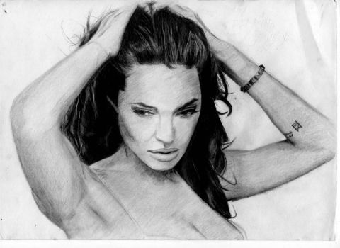 Angelina Jolie by Biddlesby