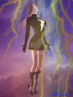 Mary Marvel Black Suit by mtrout65