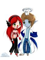 gaia couple chibi commish by angelbunny1391